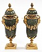 A PAIR OF VERY ATTRACTIVE GREEN MARBLE AND GILT