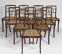 A VERY GOOD SET OF TEN REGENCY PERIOD AND BRASS