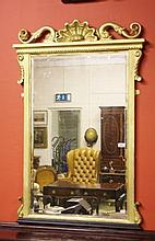 AN ATTRACTIVE GILT PIER MIRROR, 19th century and