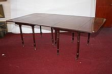 A MAHOGANY DINING TABLE, George IV period, the
