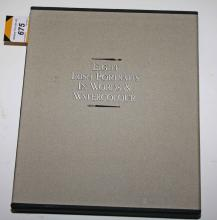 LE BROCQUY, [Louis], Eight Irish Portraits in Words & Watercolour, 4to D. 1990. Limited Edition, No. 290/1000, signed by Louis le Brocquy, 8 loose cold. portraits, original cloth portfolio in slip case. (1)