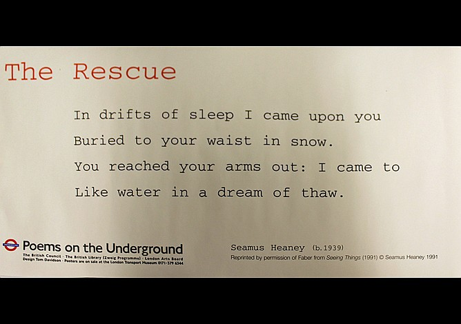 Seamus Heaney underground