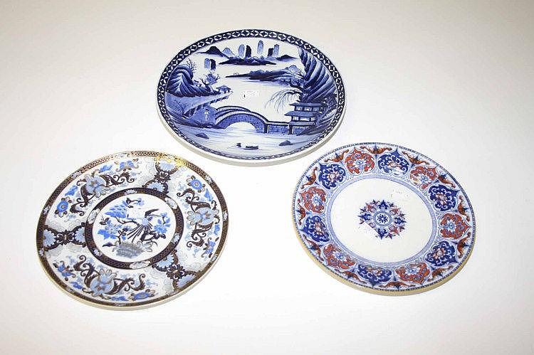 A CHINESE BLUE AND WHITE SAUCER DISH, modern,