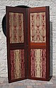 A MAHOGANY THREE-FOLD DRAFT SCREEN, early 19th