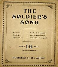 AN EARLY IRISH MUSIC SHEET,  The Soldiers Song, c.1933 published by the aut