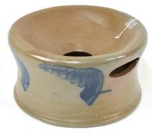 Stoneware Decorated Spittoon