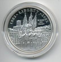 2002 U.S Military Academy Bicentennial Commemorative Proof Silver Dollar
