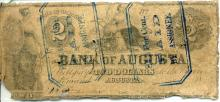 1850s $2.00 Bank of Augusta, GA Note