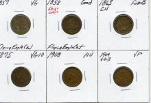 Group of Flying Eagle, Indian & Wheat Cent
