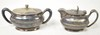 Southern Railway Silverplate Creamer and Sugar