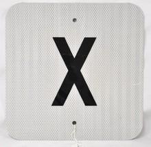 Square X Tin Sign