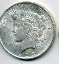 1923 Roll of Peace Dollars