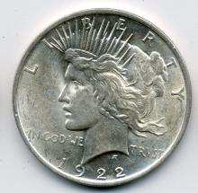 1922 Roll of Peace Dollars