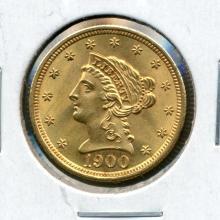 1900 $2.5 Dollar Gold Liberty