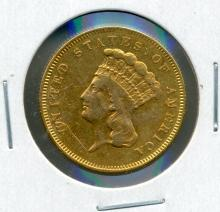 1857 $3 Gold Princess
