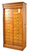 Office and Library Oak File Cabinet