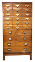 Yawman & Erbe Oak Barrister File Cabinet