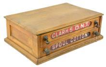 Clarks O.N.T. Ruby Glass Spool Cabinet