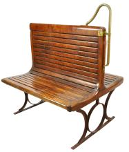 Trolley Car Wooden Seating Bench