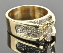 Ladies Marquee Diamond Ring