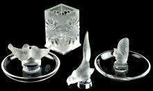 Lalique Crystal Group Lot