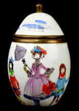 Steinbock Austrian Enameled Egg Jar