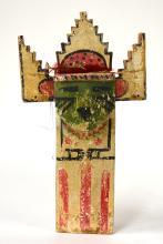 Wooden Kachina Doll Paddle