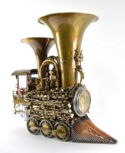 Sonny Dalton Assemblage Junk Art Train Sculpture