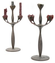 Bronze Arts and Crafts Style Candelabra