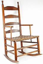 Country Ladder Back Armchair Rocker