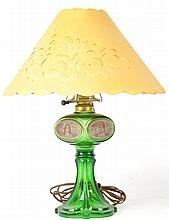 Four Seasons Emerald Green Oil Lamp