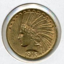 1915 $10.00 Gold Indian