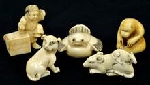Group of Ivory Netsuke