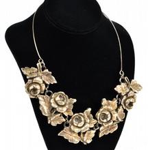 Large Sterling Rose Necklace