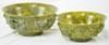 Pair of Nephrite Jade Bowls