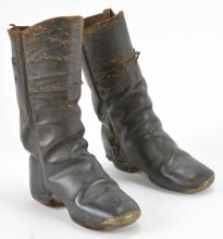 Civil War Era Leather Childs Boots