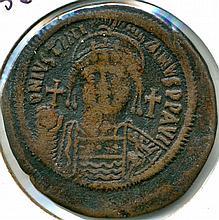 C. 527-565 AD, Justinian Byzantine Empire, AE Follis 40 Nummi