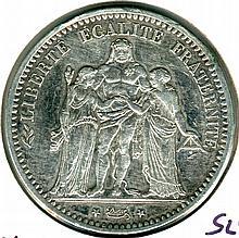 1875, France, Hercules, 5 Francs