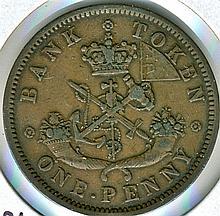 1857, Upper Canada, Penny Token