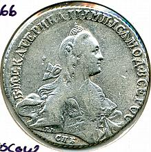1766, Russia, Moscow Mint, 1 Rouble