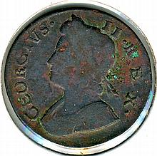 1736, Great Britain, Half Penny