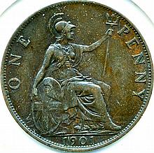 1901, Great Britain, Penny