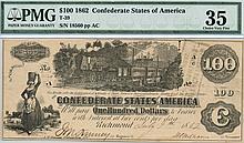 1862 $100.00 Confederate States Note