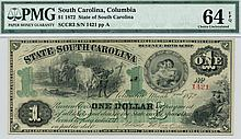 1872 $1.00 Columbia South Carolina Note