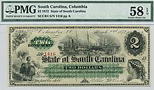 1872 $2.00 Columbia South Carolina Note