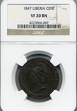 1847 Liberia Cent