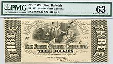 1863 $3.00 Unlisted Note