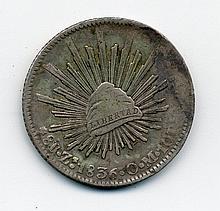 1836 Mexico Silver 8 Reales Zs O. M.