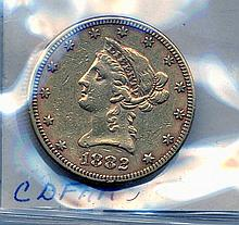 1882 $10.00 Gold Liberty