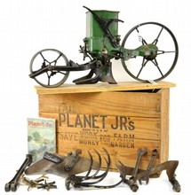 Planet Junior No. 25 Salesman Sample Hill and Drill Seeder Wheel Hoe Cultivator and Plow